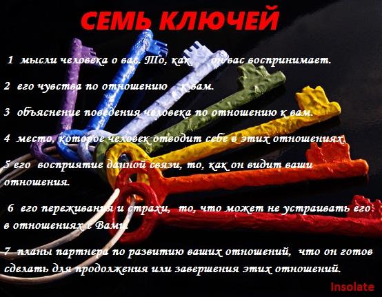 """Расклад на отношения """"Семь ключей""""  Автор: Insolate 00200"""