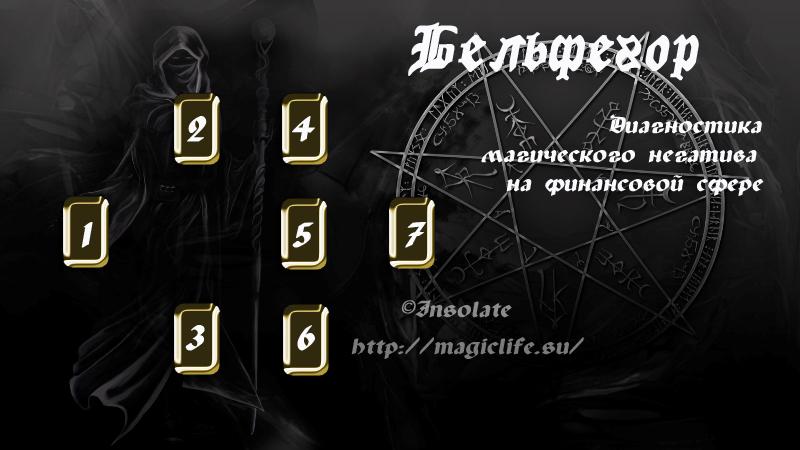 """Расклад на диагностику магических проблем в финансовой сфере """"Бельфегор"""" 0086"""