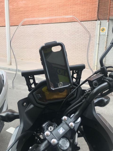 Barra para GPS a precio razonable y de muy buena calidad. Bonus: Protector Radiador. Img_3810