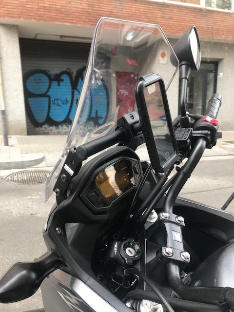 Barra para GPS a precio razonable y de muy buena calidad. Bonus: Protector Radiador. Img_3811