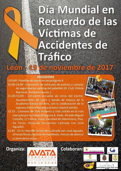 43058 León-León. DÍA MUNDIAL en recuerdo de las Víctimas de accidentes de tráfico Cartel10