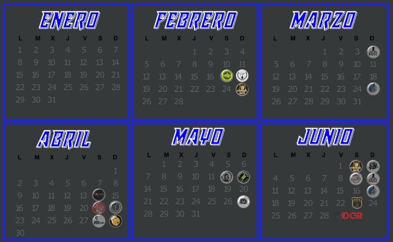 3 calendarios provisionales de las competiciones para el 2018 Nueva_13