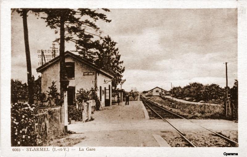 Gares de Vern et St Armel (Ligne Rennes - Châteaubriant au temps de la Cie de L'Ouest) 13935010