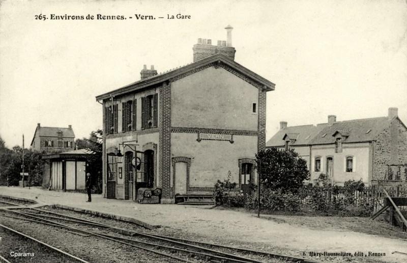 Gares de Vern et St Armel (Ligne Rennes - Châteaubriant au temps de la Cie de L'Ouest) 13935110