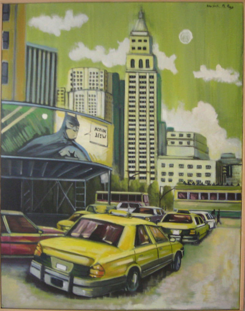 artiste peintre propose tableaux à acheter Batman10