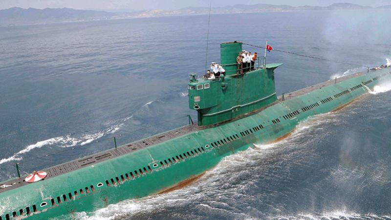 Compare el poderio naval de Corea del Norte con el de Estados Unidos Submar10