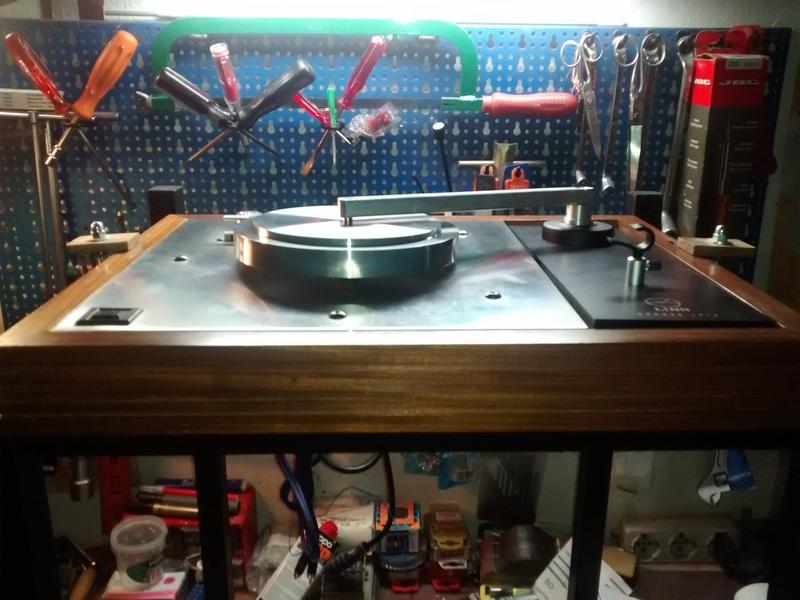 Ho upgradato un vecchio LP12 con Cirkus kit,nuovo motore e base trampolin mk1 Img_2022