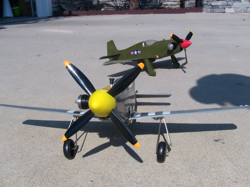 My Cox P-51 Mustangs, slightly modified  Img_0225