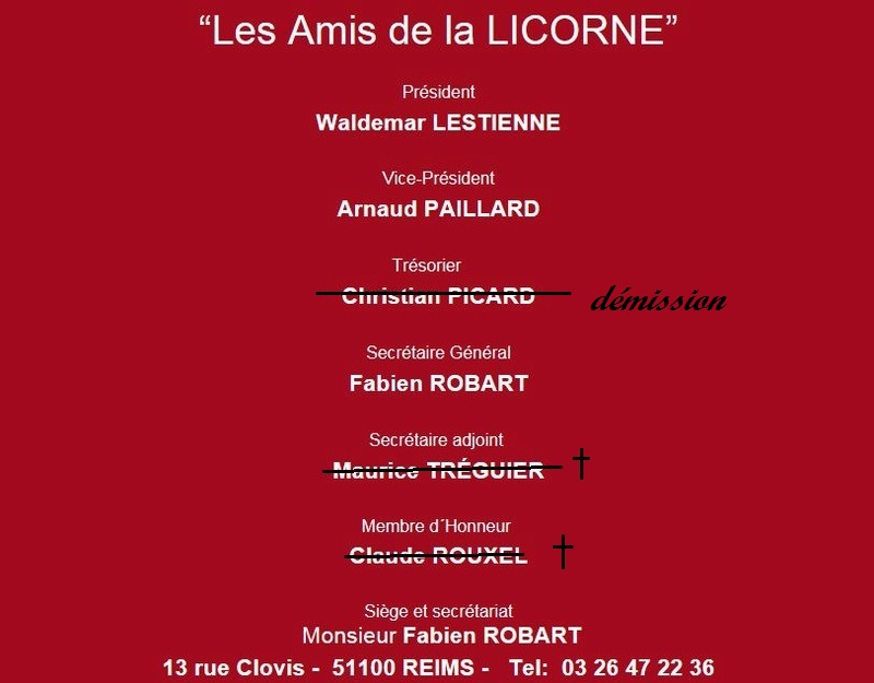 """l'Association """"les Amis de la Licorne"""" 0141010"""