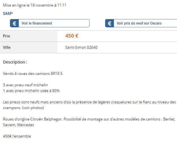 Roues 8R19.5 1039