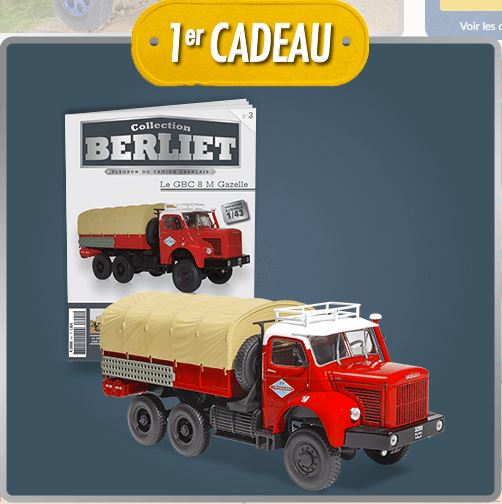 "La collection ""miniatures BERLIET"" d'Hachette au 1/43 1071"