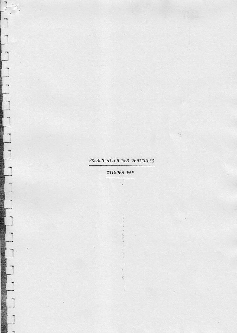La CITROËN FAF (Facile à Fabriquer) 2723
