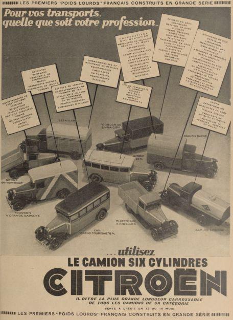 Réclame CAMIONS CITROËN Février 1931 3241