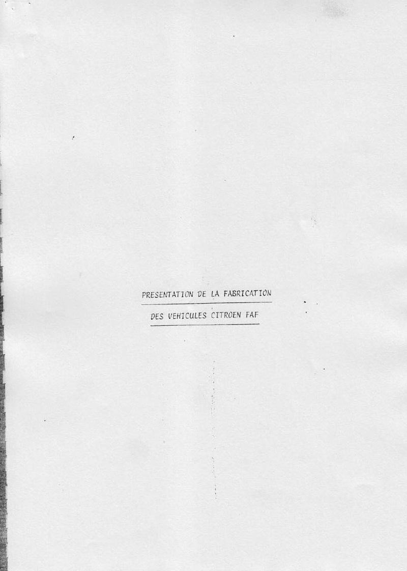 La CITROËN FAF (Facile à Fabriquer) 5010