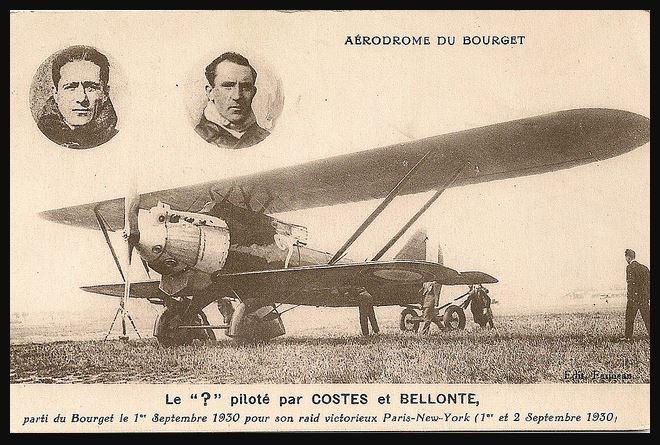 Les Aviateurs Costes et Bellonte en CITROËN C6F 511