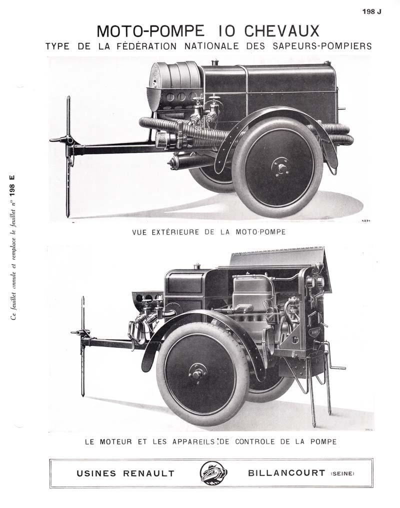 RENAULT - La Motopompe d'incendie Renault  512