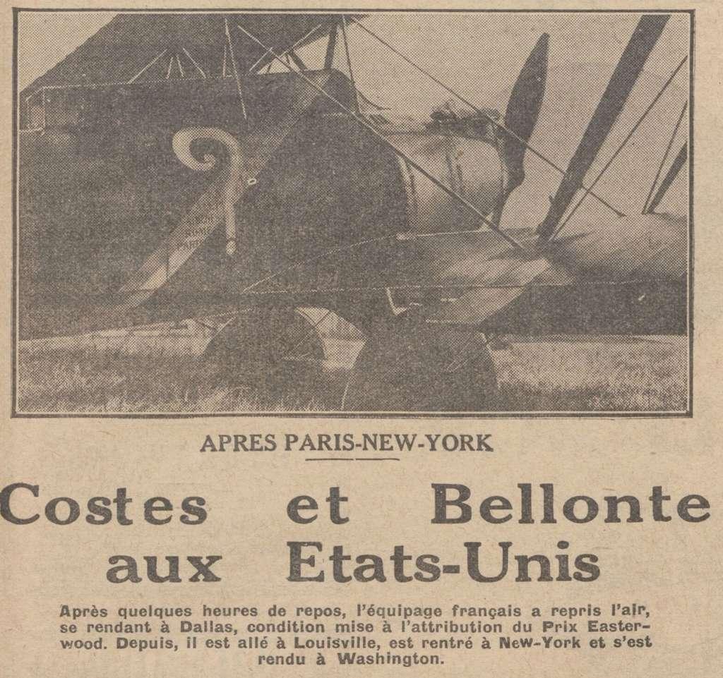 Les Aviateurs Costes et Bellonte en CITROËN C6F 7160