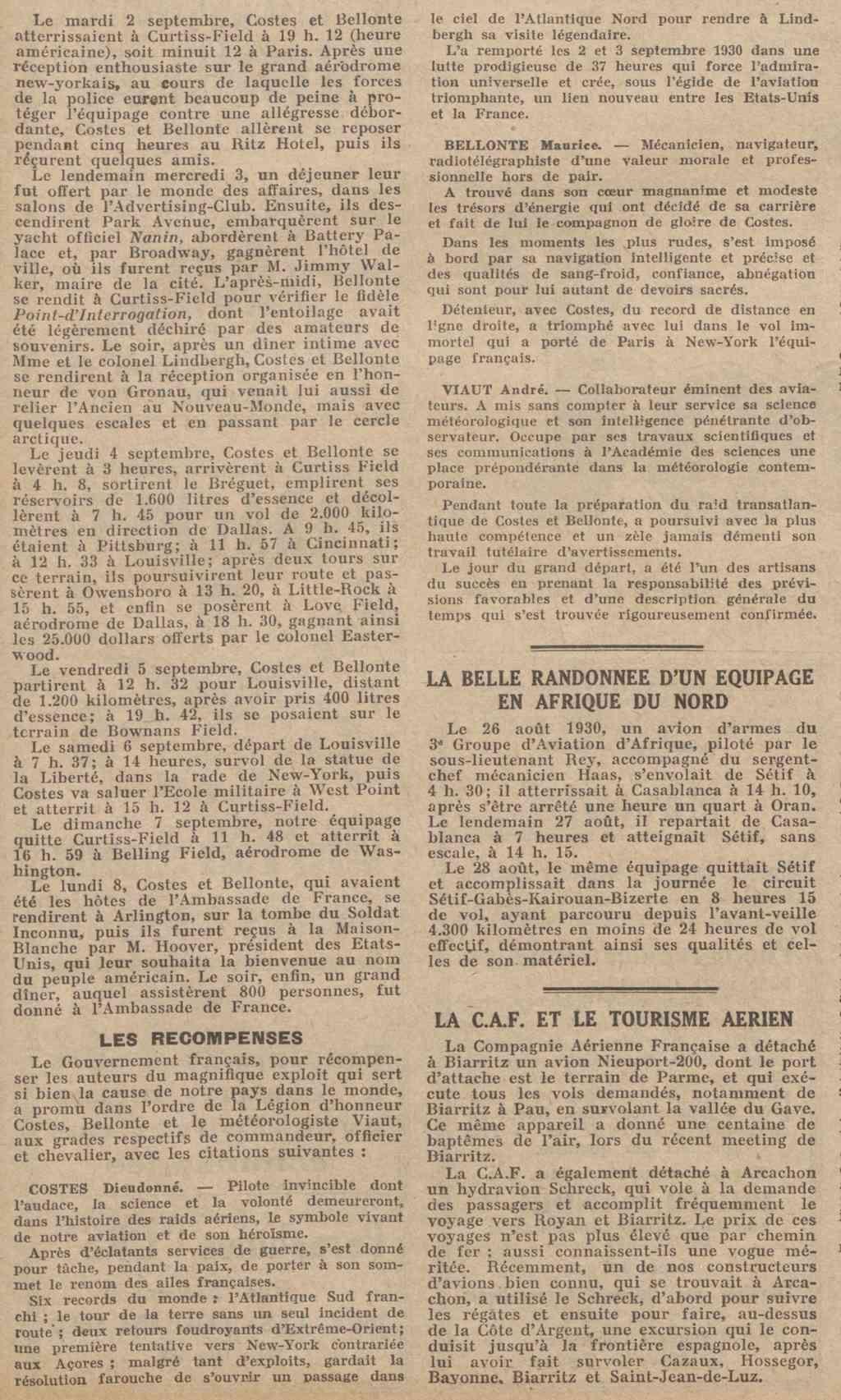 Les Aviateurs Costes et Bellonte en CITROËN C6F 8171