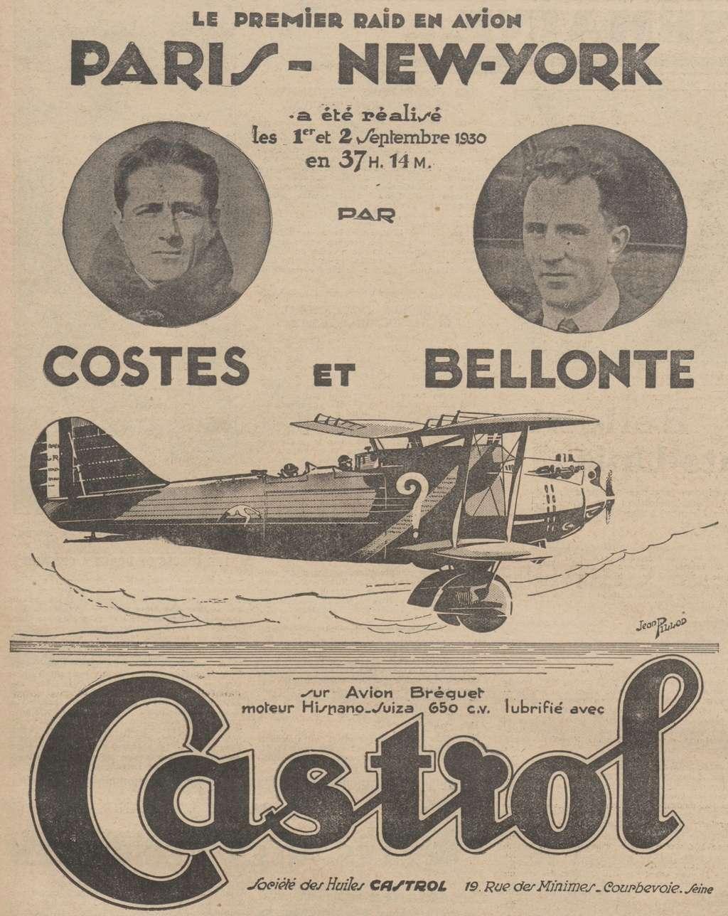 Les Aviateurs Costes et Bellonte en CITROËN C6F 9106