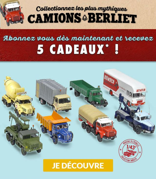 "La collection ""miniatures BERLIET"" d'Hachette au 1/43 972"