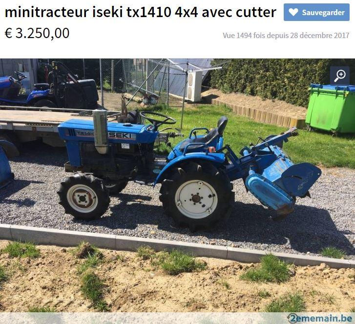 TRACTEUR - Besoin d'information sur Micro tracteur ISEKI Captur36