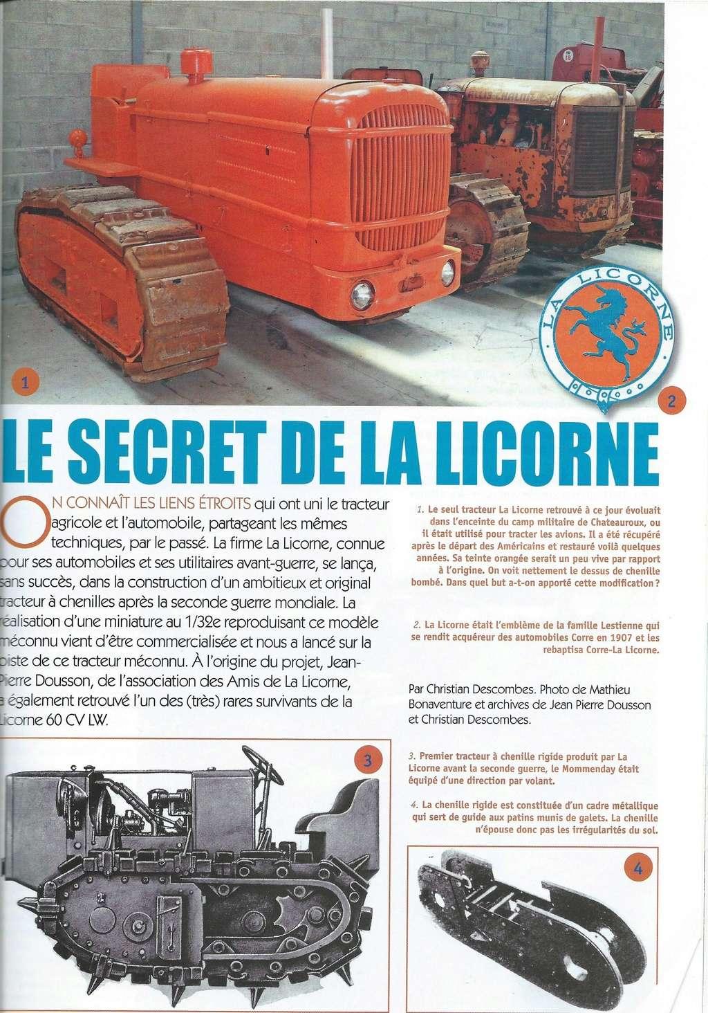 La presse spécialisée a causé du LW de LA LICORNE Tracte12