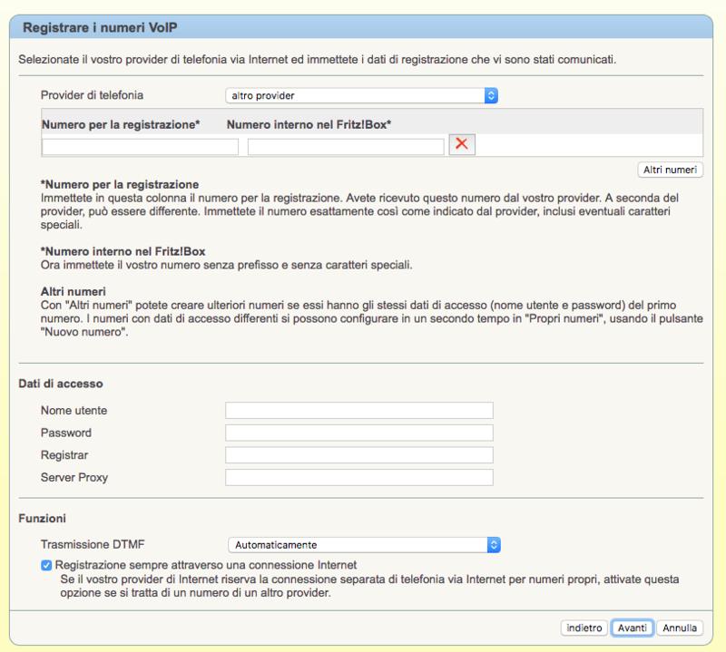 Configurazione dei parametri Messagenet con Fritz 7360 Scherm10