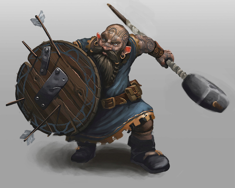 Digital painting de Traaw : Digit en vrac - Page 11 Dwarf110