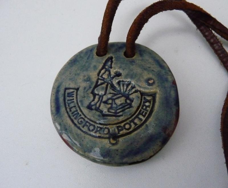 Libra Pendant marked Willingford Pottery??? P1070913