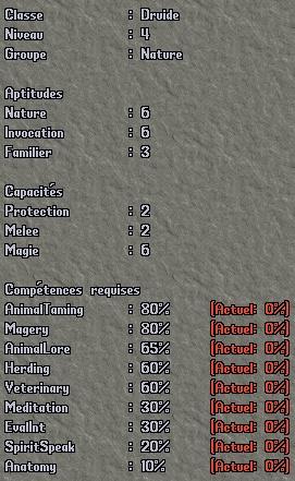 Classe - Druide Dr410