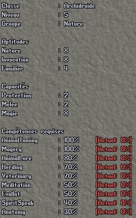 Classe - Druide Dr510