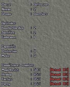 Classe - Protecteur Pro210