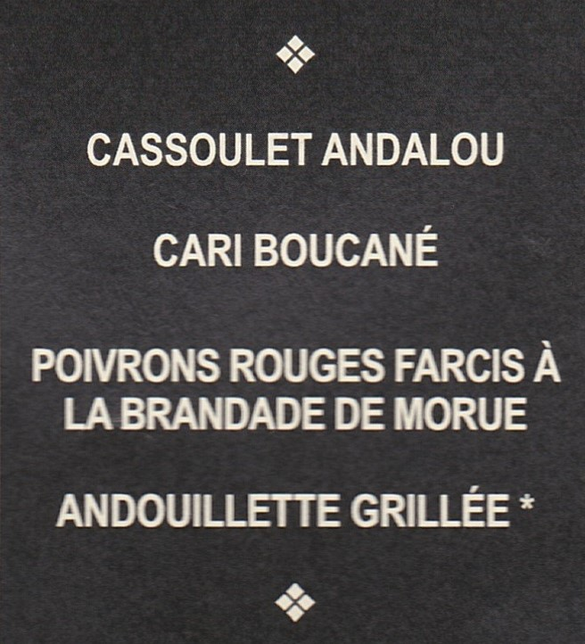 La rando du bistrot 2018 , Le menu !  Plats10