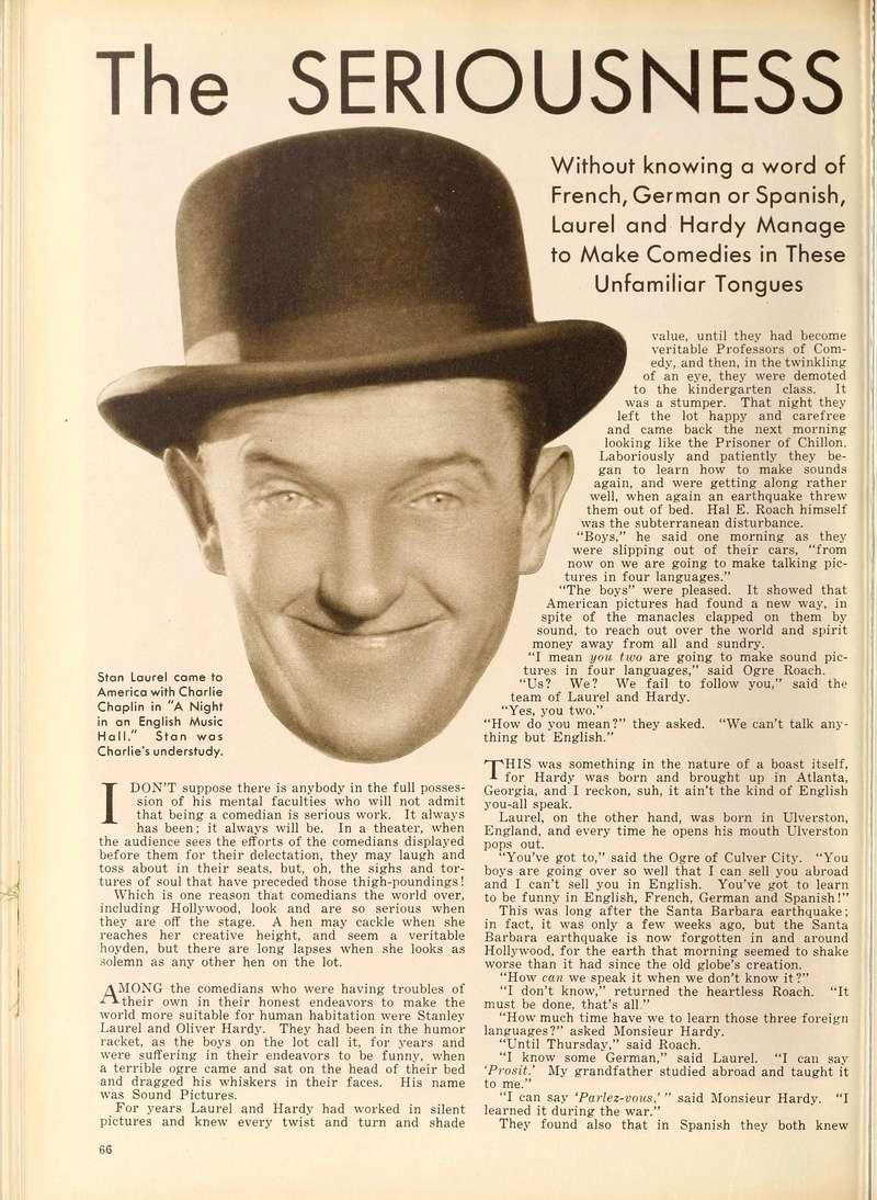 Doublage des Laurel et Hardy en 1930 Laurel10