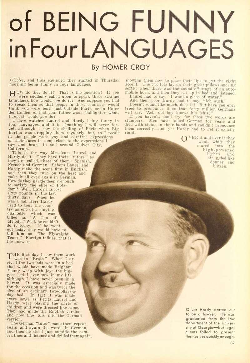 Doublage des Laurel et Hardy en 1930 Laurel11