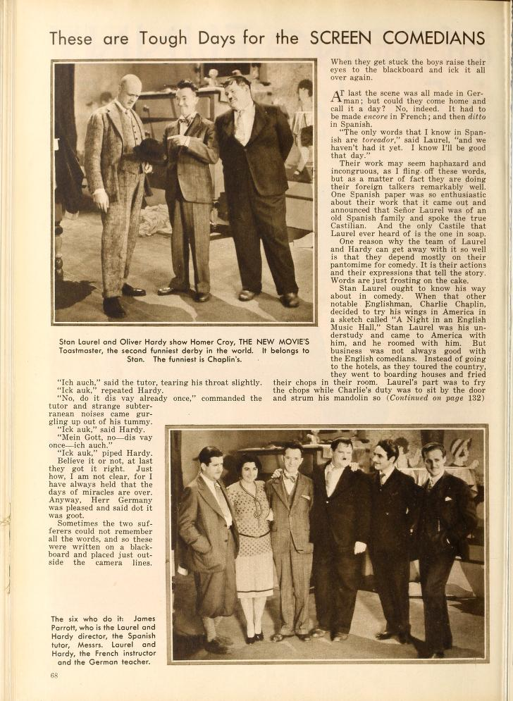Doublage des Laurel et Hardy en 1930 Laurel12