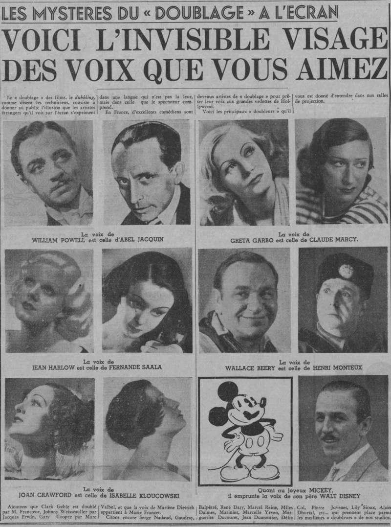 Doublage en 1937 Paris-10
