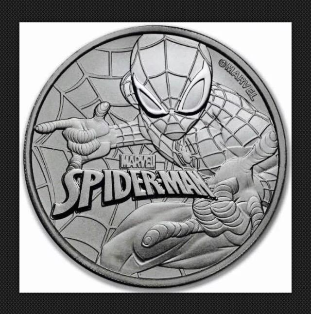 Monedas de 1 $ de Tuvalu - Marvel - Spiderman (2017) y Thor (2018) 16555810