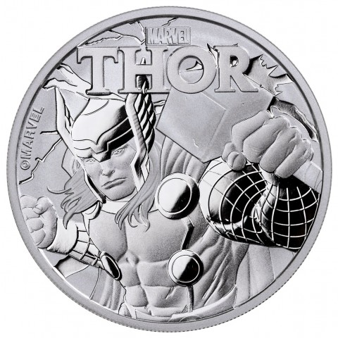 Monedas de 1 $ de Tuvalu - Marvel - Spiderman (2017) y Thor (2018) 2018-s10
