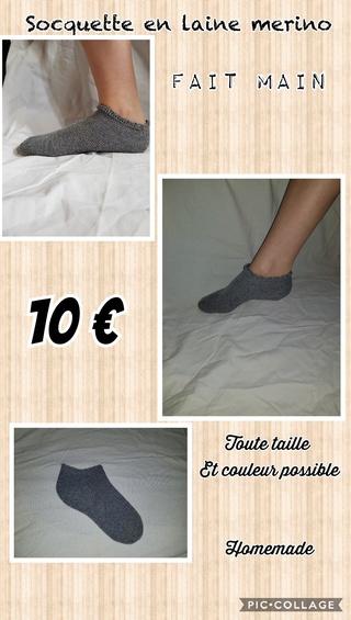 chaussettes en laine fait main Collag13