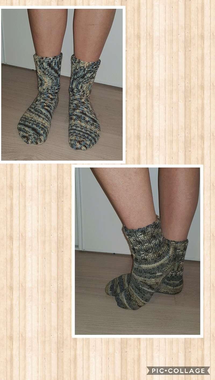 chaussettes en laine fait main Collag19