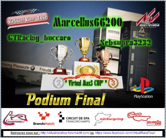 "Podium Championnat ""Virtual Max5 Cup"" 8gj2l410"