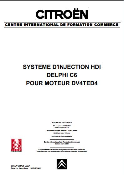 SYSTEME D'INJECTION HDI DELPHI C6 POUR MOTEUR DV4TED4   Captur10