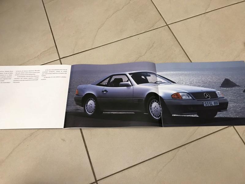 (VENDO) Catálogo antigo Mercedes SL - R$ 80 Whatsa31