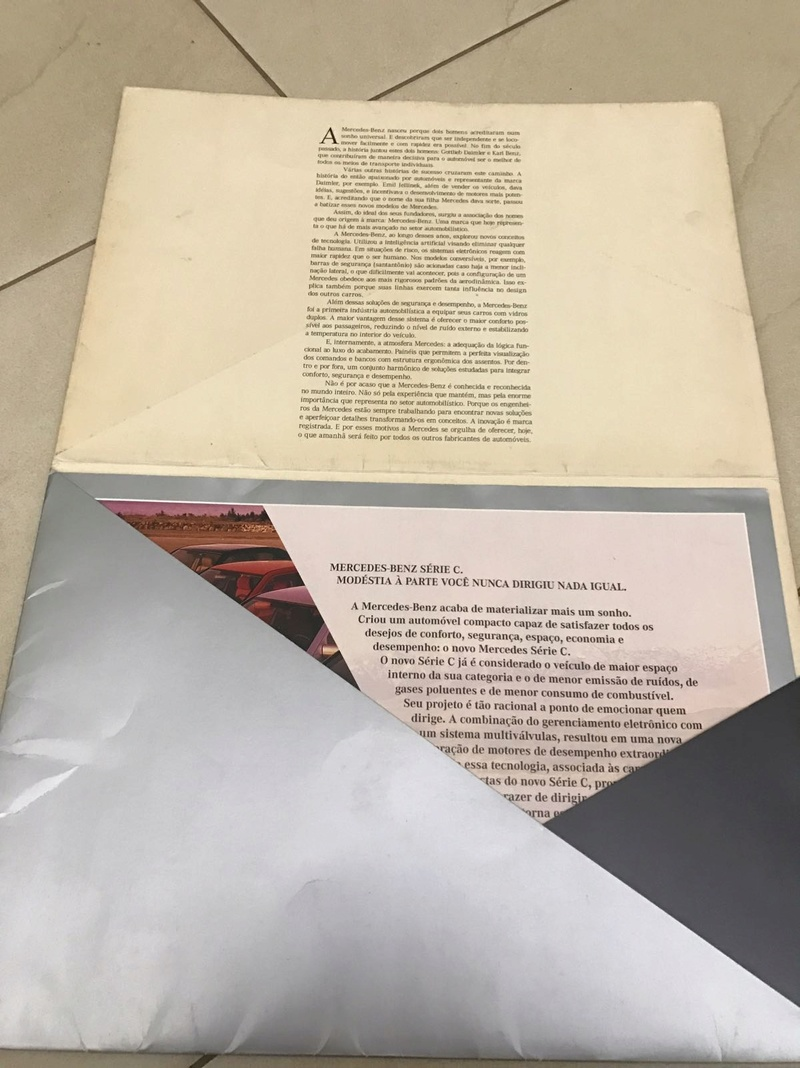 w202 - (VENDO) Catálogo Antigo Classe C (W202) - R$ 80 Whatsa40