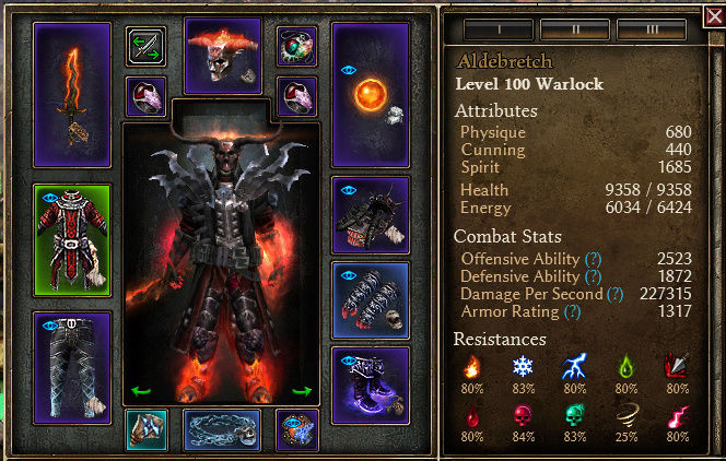 """Warlock """"Solael's Chaos Ray"""" Equips10"""