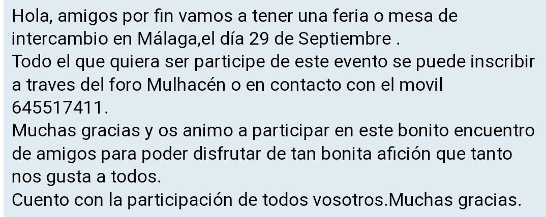 I Feria de minerales intercambio y venta de Cártama (MÁLAGA) 20180510