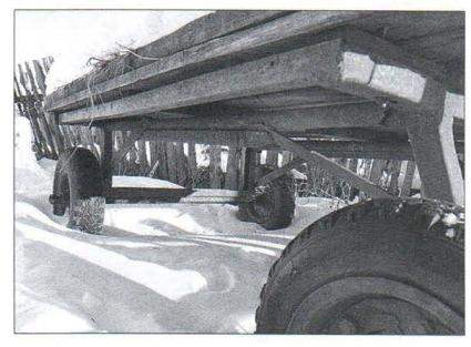 Телега на резиновом ходу 411