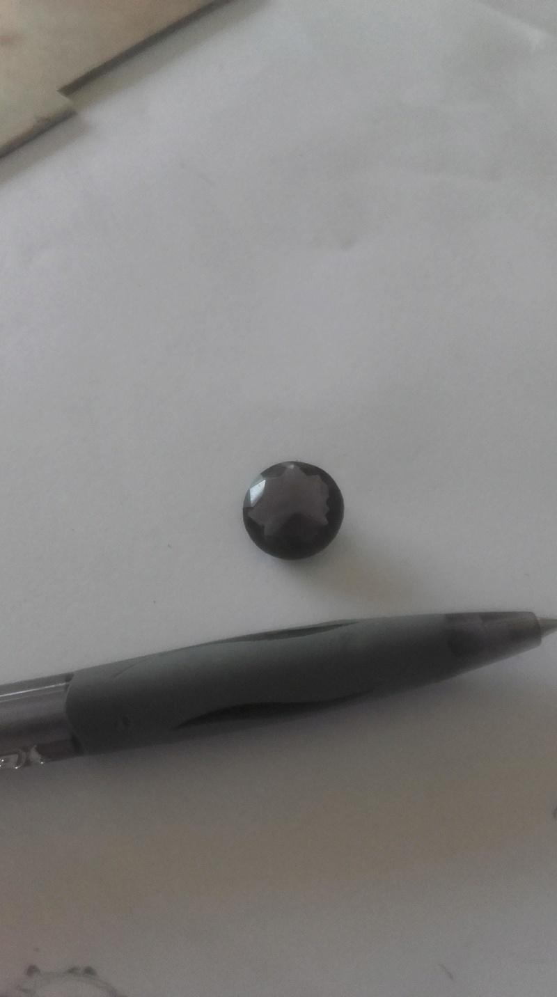 Bague avec gros quartz fumé de 10mm 28125311