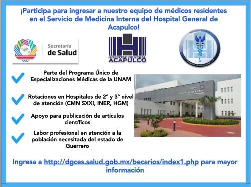 MEDICINA INTERNA HOSPITAL GENERAL DE ACAPULCO Convoc10